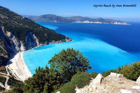 Myrtos beach from the north